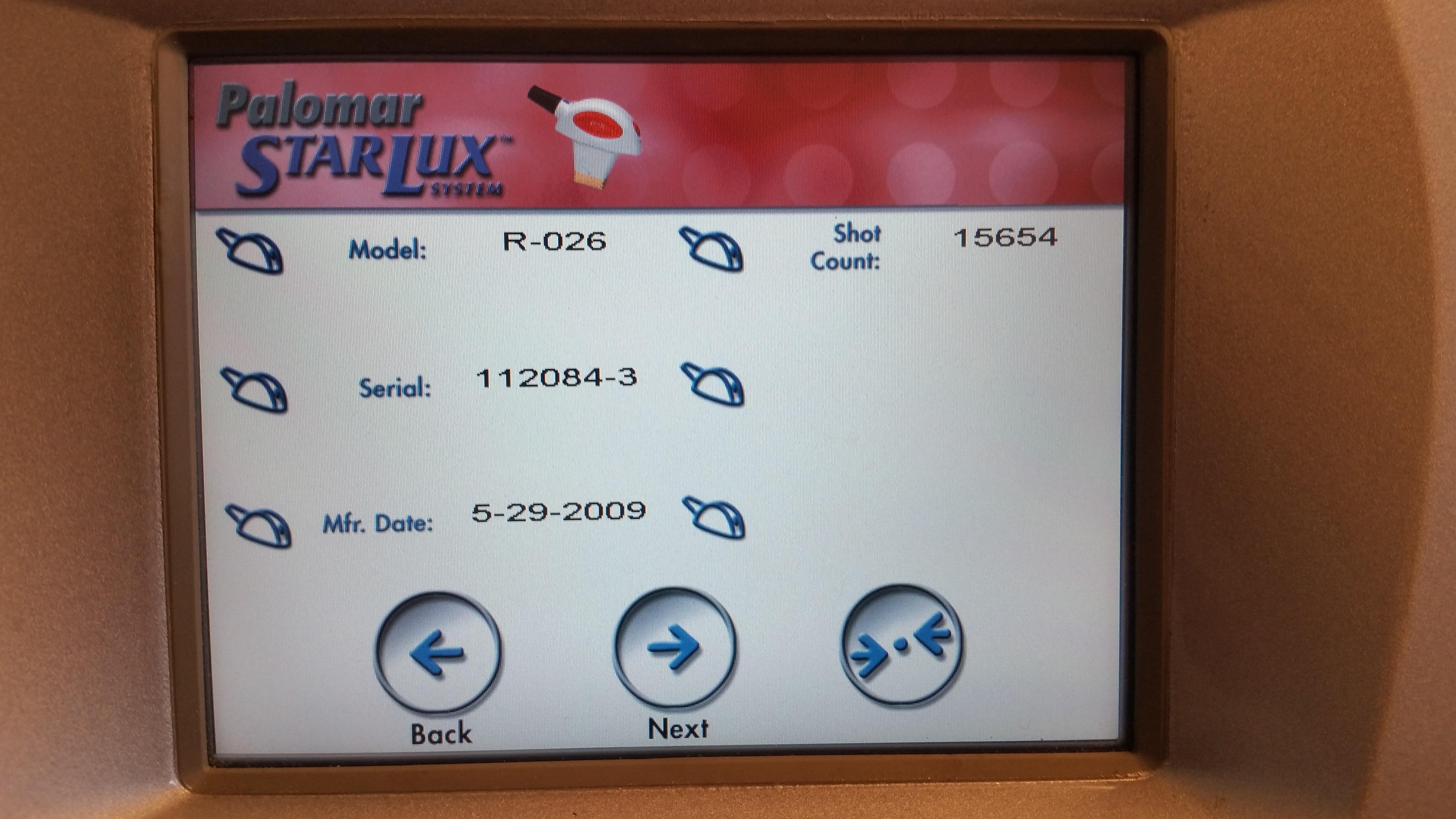 Palomar StarLux LuxR Handpiece
